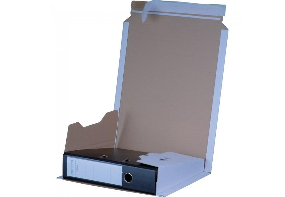 Ordner-Versandkarton weiß, für 1 Ordner 35-80 mm