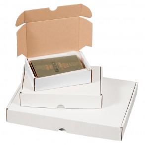 Maxibriefkarton weiß Größe 1 für 160 × 113 × 42 mm